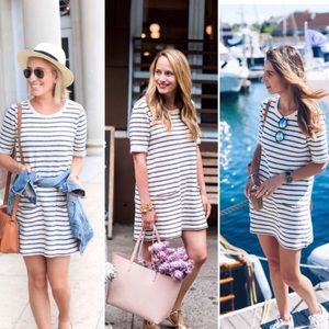 FRENCH CONNECTION | Striped Basic Dress